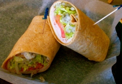 Turkey Wrap on a Wheat Tortilla