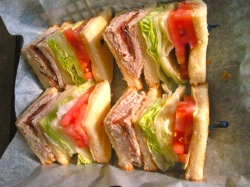 turkey club sandwich lunch deli