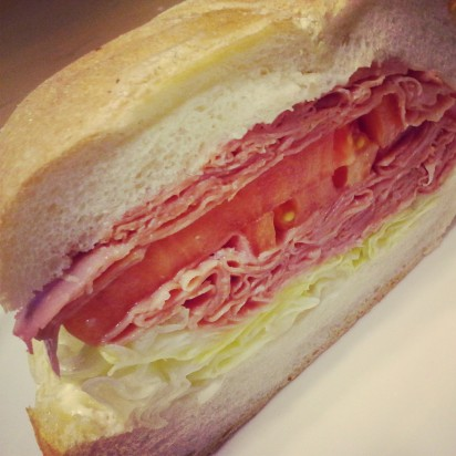 corned beef lunch sandwich