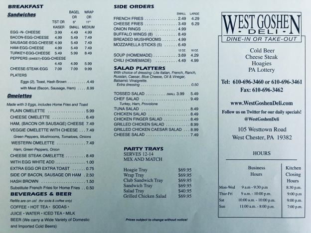 West Goshen Deli menu2