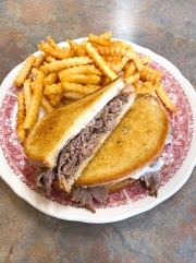 Grilled Roast Beef and Swiss Sandwich