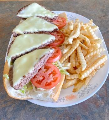 Cheeseburger Hoagie